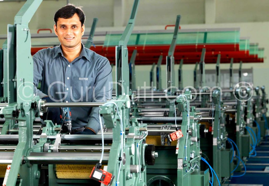 rieter india industrial assembly line